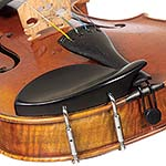 Dresden Ebony Chinrest for 1/4 Violin with Standard Bracket