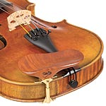 SAS Pearwood Chinrest for Violin or Viola with 24mm Plate Height and Gold-Plated Bracket