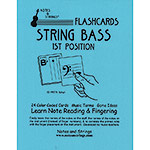 Bass 1st Position Classroom Size Unlaminated Flashcards