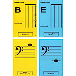 Bass 1st Pos. Classroom Half Size Unlaminated Flashcards