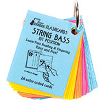 Bass 1st Position, Mini Size Laminated Flashcards