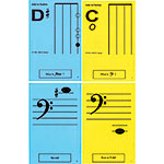 Cello 1st Pos. Classroom Half Size Unlaminated Flashcards