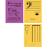 Cello 1st Position Regular Size Unlaminated Flashcards