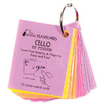 Cello 1st Position Mini Size Laminated Flashcards