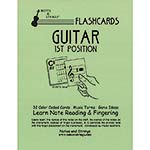 Guitar 1st Position Classroom Size Unlaminated Flashcards