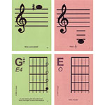 Guitar 1st Position Regular Size Laminated Flashcards