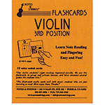 Violin 3rd Position Regular Size Unlaminated Flashcard