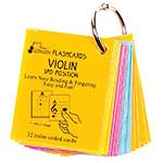 Violin 3rd Position Mini Size, Laminated Flashcards