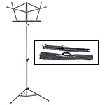 Hamilton KB900 Black Deluxe Folding Music Stand with Bag