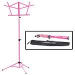 Hamilton KB900 Pink Deluxe Folding Music Stand with Bag