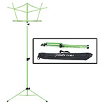 Hamilton KB900 Green Deluxe Folding Music Stand with Bag