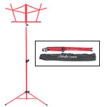 Hamilton KB900 Red Deluxe Folding Music Stand with Bag