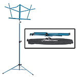 Hamilton KB900 Blue Deluxe Folding Music Stand with Bag