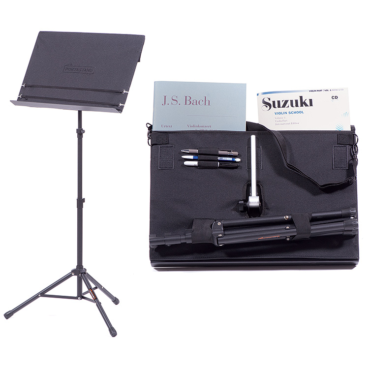 Portastand Troubadour 2.0 Folding Music Stand with Black Cover