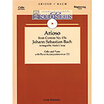 Arioso from Cantata No.156, for cello and piano, Book/CD (Isaac); J. S. Bach (Carl Fischer)