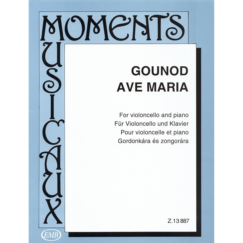 Ave Maria For Cello And Piano Johann Sebastian Bachcharles Gounod Editio Musica Budapest