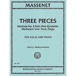 Three Pieces, for cello and piano ; Jules Massenet (International)