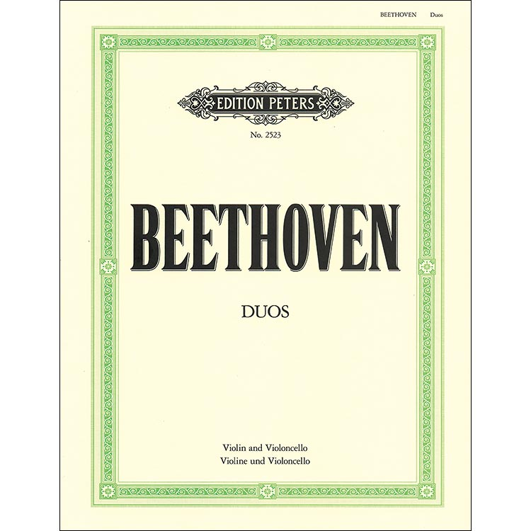Three Duos for Violin and Cello; Ludwig van Beethoven (Peters Edition)