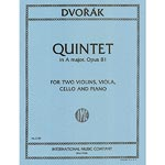 Piano Quintet no. 2, op. 81 in A Major; Antonin Dvorak (International Music)