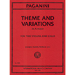 Theme & Variations in A Major for 2 violins and cello; Niccolo Paganini (International)