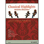 Classical Highlights, string quartet with double bass ad lib, score & parts; Various (Schott)