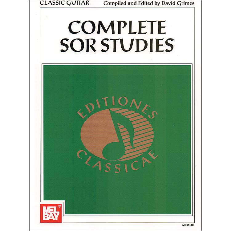Complete Sor Studies for classical guitar, edited by David Grimes; Fernando Sor (Mel Bay Publications)