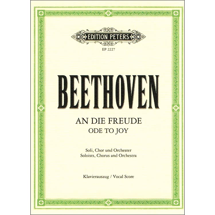Sticky Notes: Ode to Joy by Ludwig van Beethoven (Edition Peters)