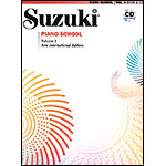 Suzuki Piano School, Volume 4, Book with CD - International Edition