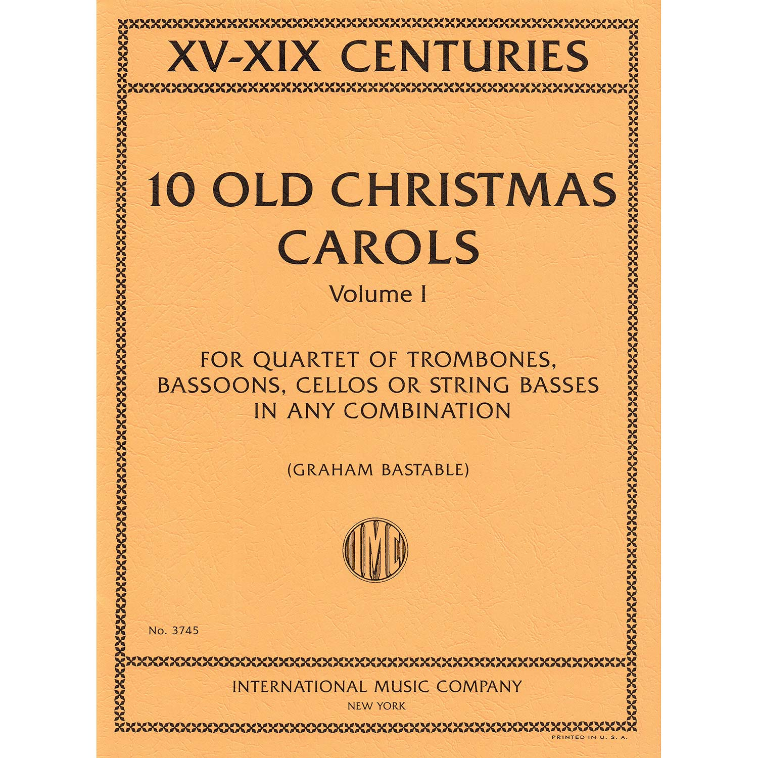 10 Old Christmas Carols volume 1 for 2 cellos; Various authors ...
