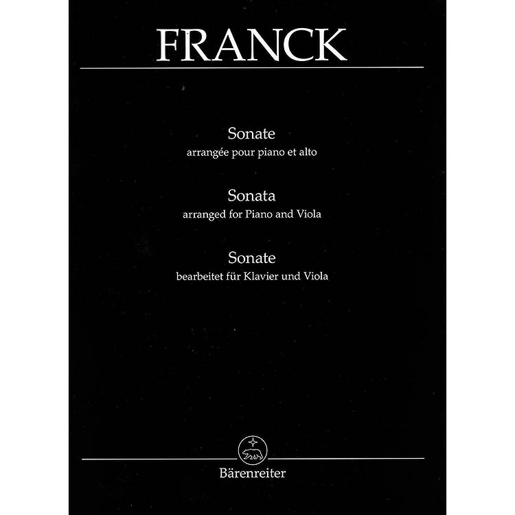 Cesar Franck: Sonata in A Major for Viola and Piano