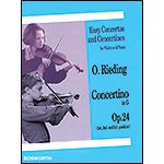 Concertino in G Major, Op. 24, for violin and piano; Oskar Rieding (Bosworth)