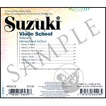 Suzuki Violin School, Volume 3 CD (Hahn) (International Edition)