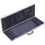 Bobelock Twelve Bow Case, Vinyl-Covered with Blue Interior