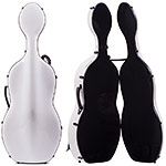 Musilia S1 Carbon/Fiberglass Hybrid Cello Case, Solid White