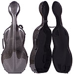 Musilia S2 Carbon Fiber Cello Case, Transparent Black
