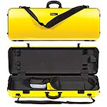 Galaxy Zenith 400SL Oblong Adjustable Yellow Viola Case with Gray Interior