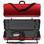 Galaxy Zenith 400SL Oblong Adjustable Red Viola Case with Gray Interior