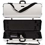 Galaxy Zenith 400SL Oblong Adjustable White Viola Case with Gray Interior