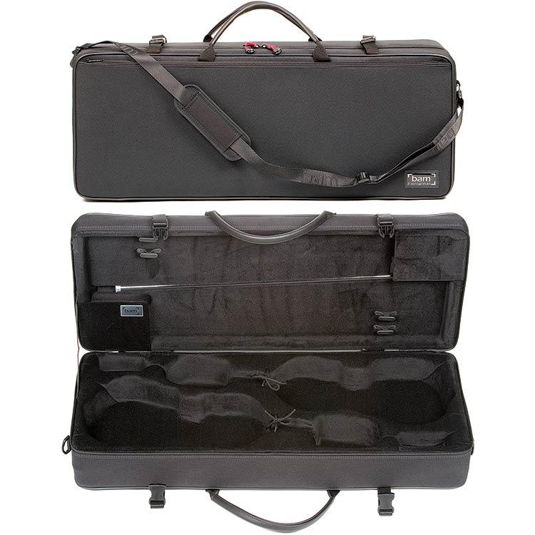 bam classic 2005sn black 4 4 double violin case johnson string instrument. Black Bedroom Furniture Sets. Home Design Ideas