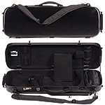 Carlisle Victory 4751V Oblong 4/4 Violin Case, Brushed Black