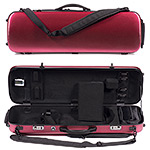 Carlisle Victory 4751V Oblong 4/4 Violin Case, Brushed Red