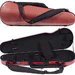 Carlisle Prestige 5251V Shaped 4/4 Violin Case, Red Carbon