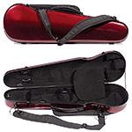 Carlisle Prestige 5251V Shaped 4/4 Violin Case, Ruby Red