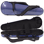 Carlisle Prestige 5251V Shaped 4/4 Violin Case, Blue Carbon