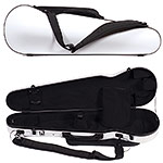 Carlisle Prestige 5251V Shaped 4/4 Violin Case, Ivory