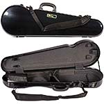 Galaxy Comet 300SL Shaped Violin Case, Black/Gray