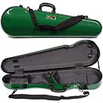 Galaxy Comet 300SL Shaped Violin Case, Green/Gray