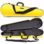 Galaxy Comet 300SL Shaped Violin Case, Yellow/Gray