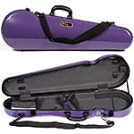 Galaxy Comet 300SL Shaped Violin Case, Purple/Gray