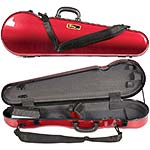 Galaxy Comet 300SL Shaped Violin Case, Red/Gray